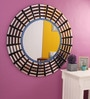 Renaissance Mirrors Purple MDF Spider Web Pattern Decorative Mirror