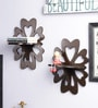 Decorhand Brown Wood & MDF Wall Shelves - Set of 2