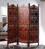 Mango Wood Beige Carving Room Divider by Decorhand