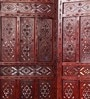 Mango Wood Brown Carving Room Divider by Decorhand