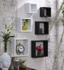 Black & White MDF Nesting Square Wall Shelves - Set of 6 by AYMH