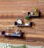 Purple MDF U-Shaped Wall Shelf - Set of 3 by AYMH