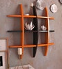 DecorNation Black & Orange MDF Wall-Mounted Shelf
