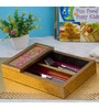 Decotrend Bloom Ornate Pink Synthetic Wood Cutlery Holder