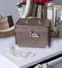 Aluminium Bronze Shimmer Vanity Case by Decotrend