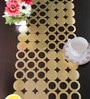 Decotrend Coin Golden Synthetic PU Table Runner