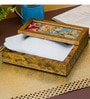 Decotrend Floral Antique Multicolour Synthetic Wood Tissue Holder