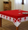 Decotrend Red and White Table Cloth