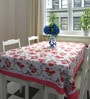 Decotrend Rose Multicolour 100% Cotton Table Cloth with Border