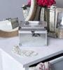 Aluminium Silver Cube Vanity Case by Decotrend