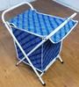 Deneb Polyester 20 L Blue Foldable Laundry Basket