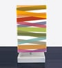 Multicolour Fabric Cross Stripes Designed Table Lamp by Nutcase