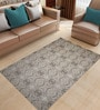 Designs View Beige Bamboo Handspun Art Silk 100 x 69 Inch Indo-Naplese Floor Covering Modern Design Carpet