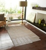 Beige Wool & Viscose 90 x 60 Inch Hand Tufted Modern Design Area Rug by Designs View