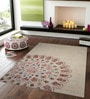 Beige Wool 90 x 60 Inch Hand Tufted Sun Design Area Rug by Designs View
