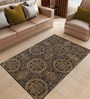 Black & Gold Wool & Viscose 60 x 96 Inch Hand Tufted Ring Carpet by Designs View