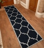 Black Wool 30 x 96 Inch Hand tufted Runner by Designs View