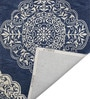 Designs View Blue & Ivory Fine Indian Blended Wool 96 x 60 Inch Hand Tuft Floor Covering Kirman Design Carpet