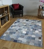 Designs View Blue Jeans Fabric 78 x 54 Inch Hand Stitched Jeans Pocket Area Rug