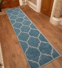 Designs View Blue Wool 30 x 96 Inch Hand tufted Runner