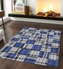 Designs View Blue Wool 96 x 60 Inch Hand Made Patch Work Dhurrie