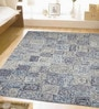 Blue Wool 96 x 60 Inch Hand Tufted in 3D Look Area Rug by Designs View
