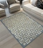 Designs View Grey & Gold Wool & Viscose 60 x 96 Inch Hand Tufted Box Design Carpet