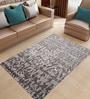 Designs View Grey & Silver Bamboo Handspun Art Silk 93 x 66 Inch Indo-Naplese Floor Covering Modern Design Carpet