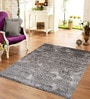 Designs View Grey Bamboo Handspun Art Silk 96 x 67 Inch Indo-Naplese Floor Covering Modern Design Carpet