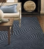 Designs View Grey Wool & Viscose 96 x 66 Inch Hand Tufted Mix Waves Design in High Low Texture Carpet