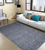Grey Wool 120 x 78 Inch Hand Tuft Heart Petal Design Area Rug by Designs View