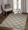 Designs View Ivory & Silver Wool & Viscose 60 x 96 Inch Hand Tufted New Chain Design Carpet