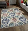 Ivory Wool 96 x 60 Inch Hand Tufted Flower Design Area Rug by Designs View