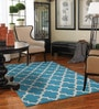 Designs View Light Blue Wool 48 x 72 Inch Handmade Dhurrie