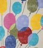 Multicolor Woolen Rectangular Balloon Kids Carpet by Designs View