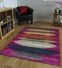 Designs View Multicolour Imported Handspun Wool 82 x 61 Inch Hand Knotted Floor Covering Variation Soft Area Rug
