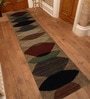 Designs View Multicolour Imported Handspun Wool 96 x 24 Inch Hand Knotted Floor Covering Variation Soft Area Rug