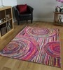 Designs View Multicolour Recycled Chindi Cotton 96 x 60 Inch Hand Tuft Chindi Design Carpet