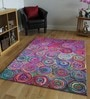 Multicolour Recycled Chindi Cotton 96 x 60 Inch Hand Tufted Chindi Design Carpet by Designs View