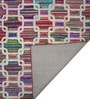 Designs View Multicolour Recycled Chindi Cotton 96 x 60 Inch Hand Tufted Chindi Design Carpet