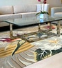 Multicolour Wool & Cotton 66 x 96 Inch Hand Tufted Flower Design Carpet by Designs View