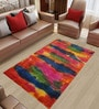 Multicolour Wool 96 x 60 Inch Hand Made Area Rug by Designs View