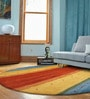 Multicolour Wool 96 x 96 Inch Hand Knotted Modern Stripe Design Round Area Rug by Designs View