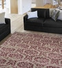 Designs View Purple & Beige Wool & Viscose 96 x 60 Inch Hand Tufted New Damask Carpet
