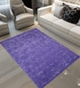 Designs View Purple Wool 90 x 60 Inch Hand Tuft Heart Petal Design Area Rug