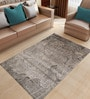 Designs View Silver Bamboo Handspun Art Silk 100 x 66 Inch Indo-Naplese Floor Covering Modern Design Carpet