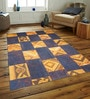 Designs View Yellow & Blue Turkish Imported Wool 91 x 63 Inch Antique Hand Made Turkish Over Dyed Patch Work Kilims Carpet