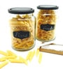 Devnow Cylindrical 470 ML Chalkboard Storage Jar - Set of 2
