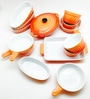 Devnow Orange Stoneware Mini Baker Set - Set of 14