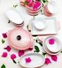 Devnow Pink Stoneware Mini Baker Set - Set of 14